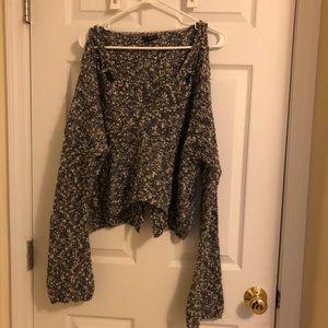 express heathered crop sweater